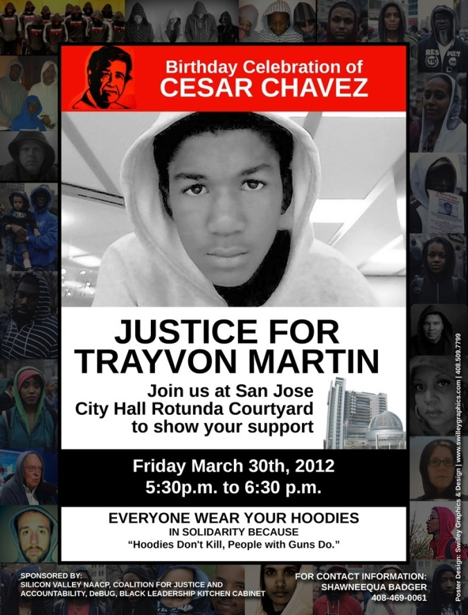 Justice for Trayvon Martin (San Jose Rally, 3.20.12//5:30pm//City Hall)