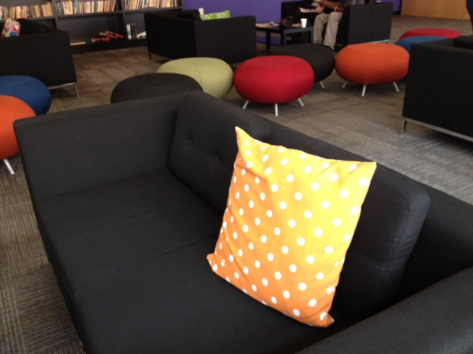 Couches and seating areas in the lobby.