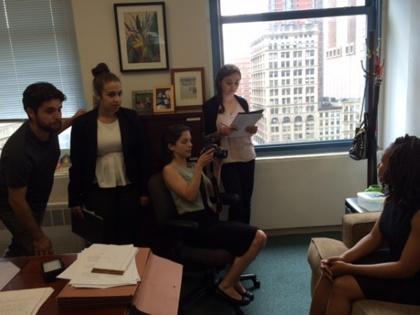 NY Federal Defenders working on producing a mock social bio video.