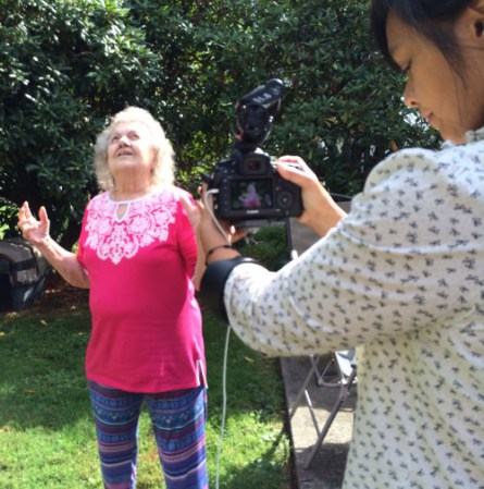 Image from our most recent social biography video in New York. Charisse capturing this mother's reflection of the first time she stood in the backyard of the home her son bought her.