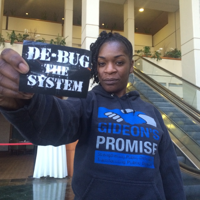 Illy, President of Gideon's Promise, reppin' De-bug in the ATL!