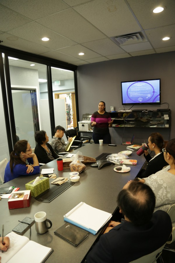 Cecilia Chavez trains a group of 12 staff members (attorneys and advocates) at Asian Law Alliance, a longstanding immigrants rights and service provider in Santa Clara County on our model of participatory defense.  They are excited about being able to partner with De-Bug in empowering immigrant families caught in the nexus of the criminal justice and immigration systems.